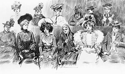 تصویری در باره زنان در هیئت منصفه دادگاه های آمریکا